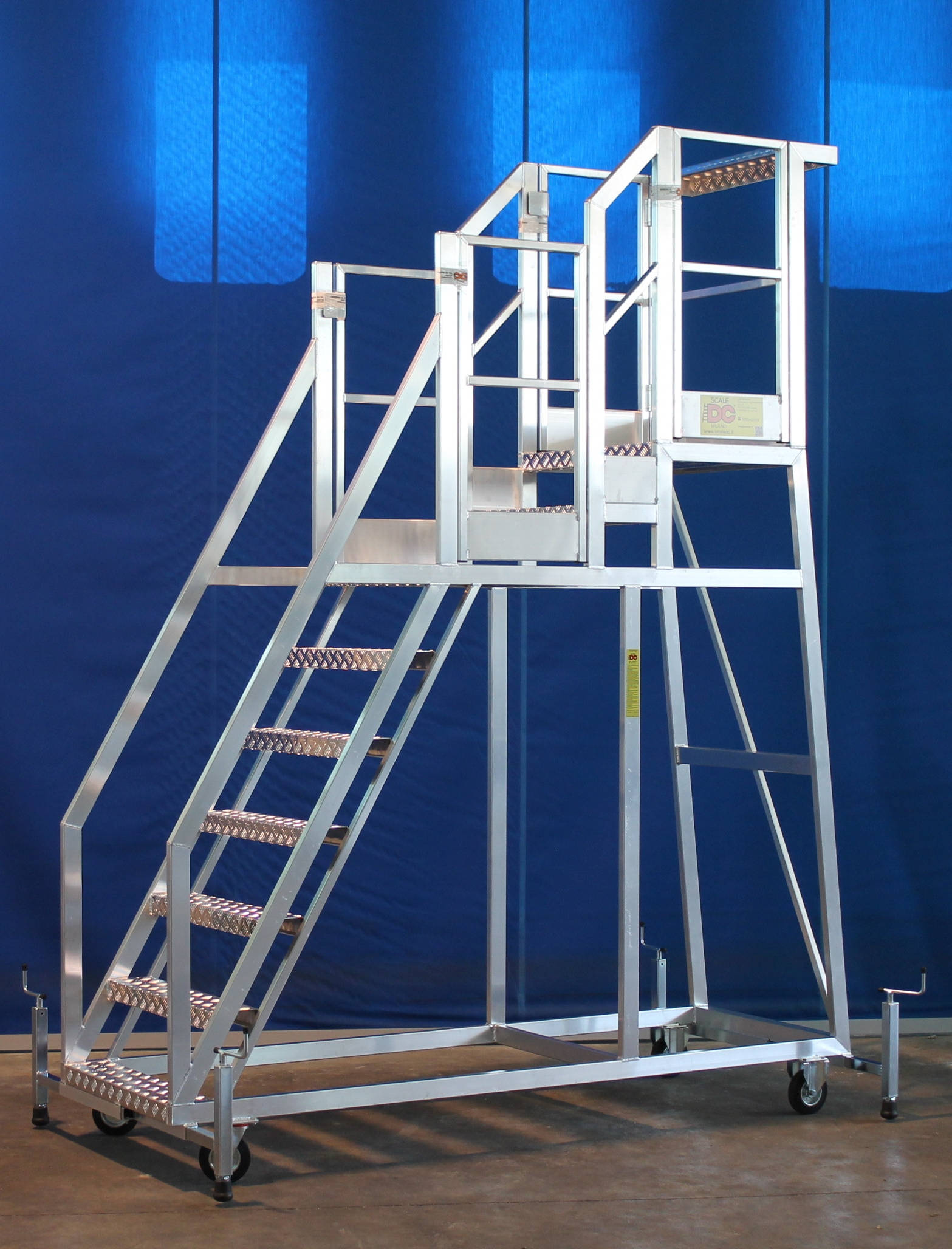 Special Ladder Made To Measure With Double Platform